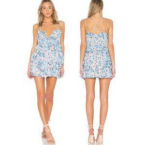 Lovers + Friends Rae Floral Ruffle Dress L